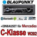 Mercedes-C-Klasse-W202-BLAUPUNKT-Brisbane-230-MP3USB-Autoradio-inkl-Bluetooth-Einbauset