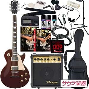 Maison メイソン エレキギター レスポールタイプ サクラ楽器オリジナル LP-28/WR 初心者入門20点セット