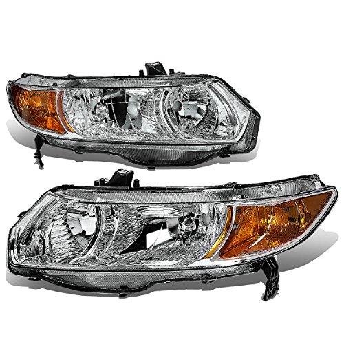 Honda Civic 8th Gen Coupe Pair of Chrome Housing Amber Corner Headlight (Fd2 Civic Fog Lights compare prices)