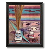 Southwestern Native American Indian Pottery # 1 Picture Black Framed Art Print