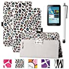 Galaxy Tab 2 Case, Tab 2 7.0 Case ULAK Stand Case Cover with Stand For Samsung Galaxy Tab 2 7.0-inch P3100/ P3110/ P3113 (Colorful Stand Leopard)