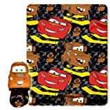 Disney, Cars 2, Checkerboard 40-Inch-by-50-Inch Fleece Blanket with Character Pillow by The Northwest Company