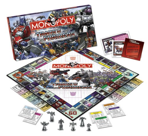 Usaopoly Transformers Collector's Edition Monopoly Get Rabate