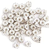 SODIAL(R) 50pcs 4MM Flower Rhinestone Rondelle Round Bead Spacer HOT