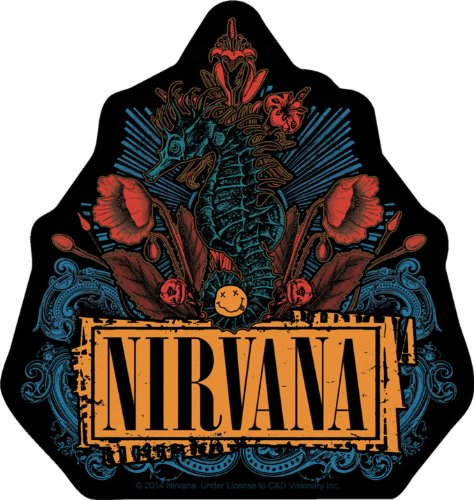 Licenses Products Nirvana Floral Sticker