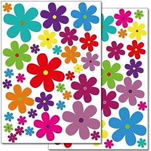 Amazon Com Wandkings Wall Stickers Colourful Flowers
