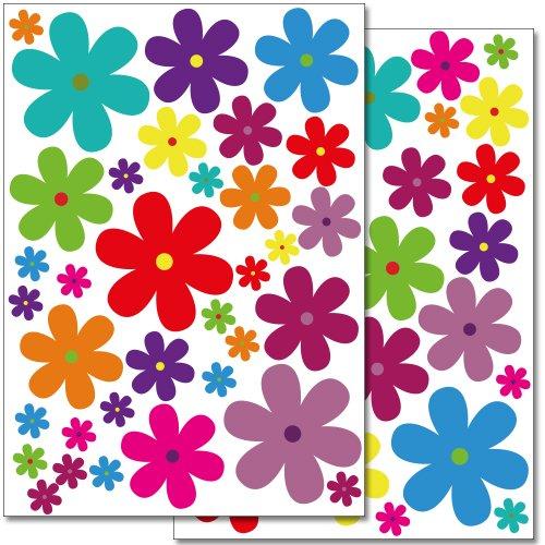 adesivi-da-parete-wandkings-fiori-colorati-design-3-set-adesivi-62-adesivi-su-2-fogli-din-a4