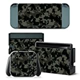 CAMO GREY Nintendo Switch Controller Cover Skin Set for Console Dock Joy Con Vinyl Decal Sticker Protector by BR (Color: CAMO GREY, Tamaño: Nintendo Switch)