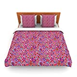 "Kess InHouse Julia Grifol ""My Dreams in Color"" Pink Stars King Fleece Duvet Cover, 104 by 88-Inch"