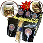 cgb_165391_1 TNMPastPerfect Animals - Vintage Leopard Tobacco Label Artwork - Coffee Gift Baskets - Coffee Gift Basket