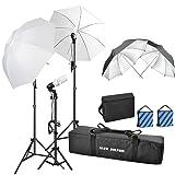1500W 5500K Photography Photo Video Portrait Studio Day Light Umbrella Continuous Bulb Triple Lighting Kit