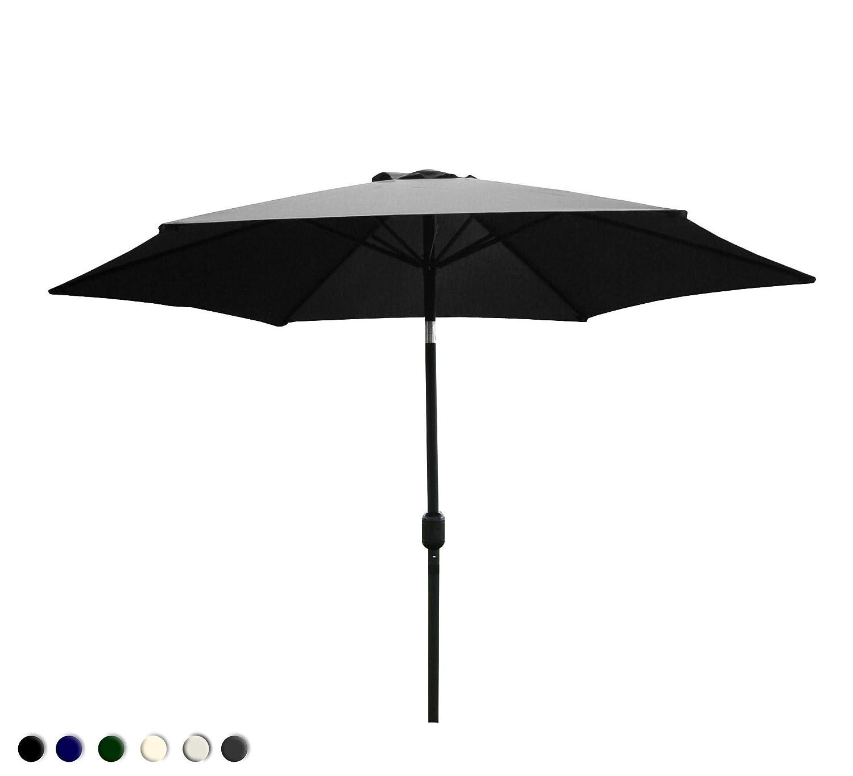 Bentley Garden – Sonnenschirm/Gartenschirm mit Kurbel – Neigbar – Metall – Grau günstig