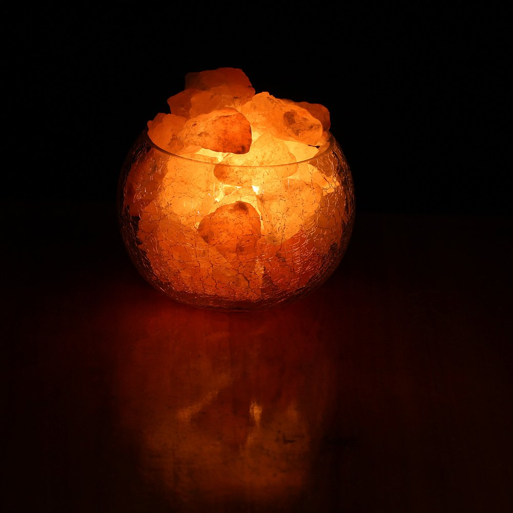 What Bulbs Do Salt Lamps Use : YYout Natural Rock Crystal Himalayan Salt Lamp Globe With Dimmable Switch Electric Wire & Three ...
