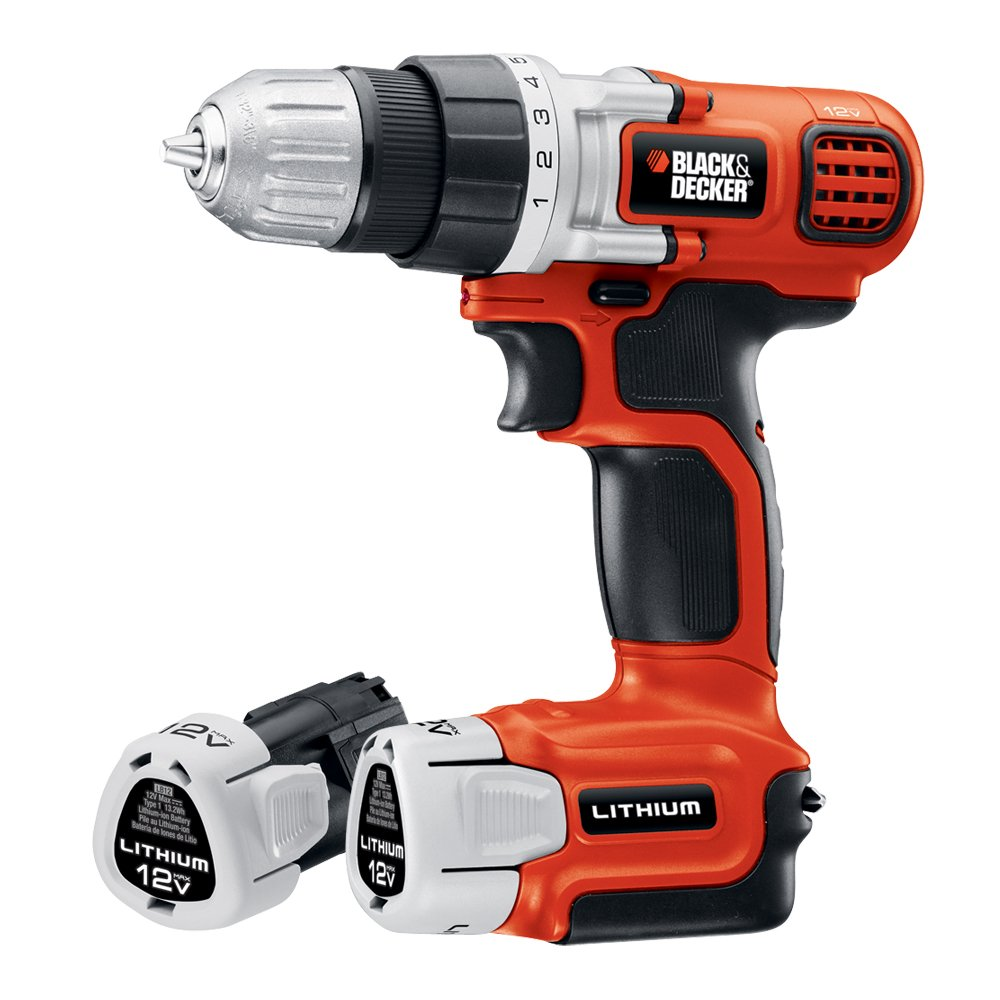 black decker ldx112c 2 12 volt max lithium ion drill driver with 2 batteries madstencinlin. Black Bedroom Furniture Sets. Home Design Ideas