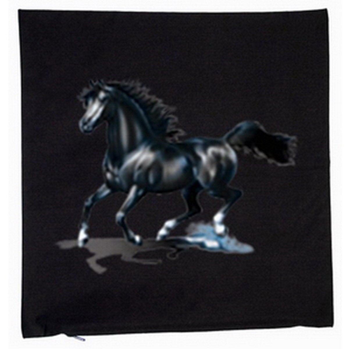 Pferde Black Horse Deko Kissen mit Füllung Farbe: schwarz Größe: 40x40cm günstig bestellen
