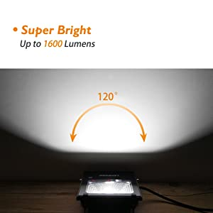 Case of 10,LEPOWER 20W LED Flood Light, Super Bright Outdoor Work Light, 100W Halogen Bulb Equivalent, IP66 Waterproof, 6500K,1600lm, Outdoor Led Lights(Daylight White) (Color: 20w 10 Pack, Tamaño: 20W 10 Pack)