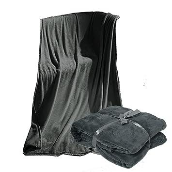 viva xxl microfaserdecke kuscheldecke tagesdecke 220x240 cm grau db740. Black Bedroom Furniture Sets. Home Design Ideas
