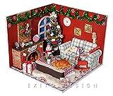 ドールハウス 手作りキット ミニチュアセット エクシトデザイン特典工具付き クリスマス 2