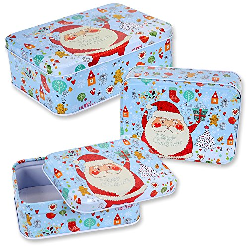 Christmas Nesting Cookie Tins