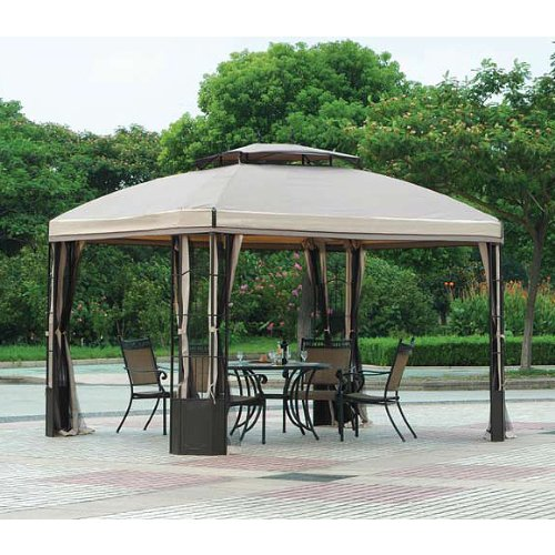 10 x 12 bay window gazebo replacement canopy riplock 350