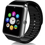 MSRM Smart Watch Call Sync and Handfree Compatible for iPhone 5s/6/6s/7/7s and Android 4.3 Above (Silver) (Sliver)