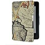 Armel® Retro Map Ultra Slim Smart Leather Case Cover For Amazon Kindle Paperwhite 2013 & Previous Generation 2012 Including Screen Protector [Will Only Fit Kindle Paperwhite (5th And 6th Generation)]