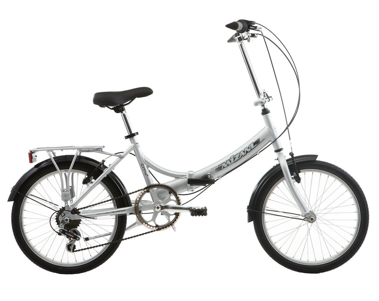 Bicicleta urbana plegable plata