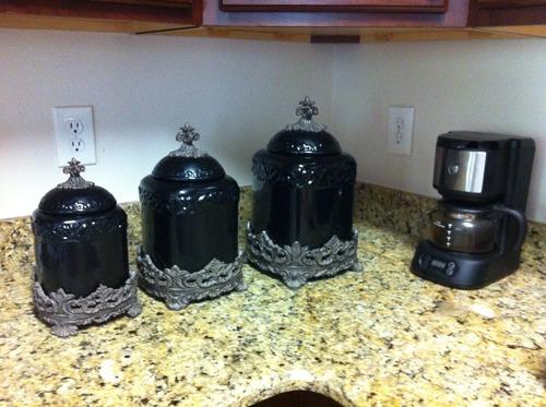 Drake design 3454 large canister 3 piece set for Drake designs kitchen