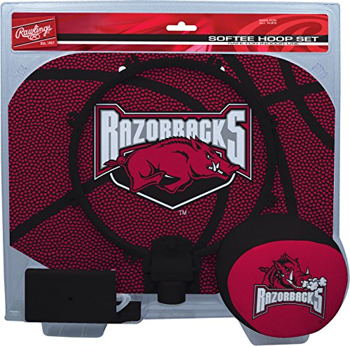 NCAA Arkansas Razorbacks Kids Slam Dunk Hoop Set, Red, Small - 1