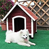 Petsfit 37.8 X 44.1 X 41.3 Inches Wood Dog House , Dog House Outdoor