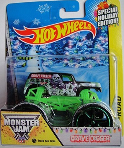 HOT WHEELS 1:64 SCALE 2014 GRAVE DIGGER TRACK ACE TIRES HOLIDAY EXCLUSIVE MONSTER JAM MONSTER TRUCK DIE-CAST - 1