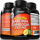 Garcinia Cambogia Extract 100% Pure | #1 Natural Weight Loss Supplement Pills for Women & Men | 100% Safe Appetite Suppression & Weight Loss | Premium Diet Pills, Fat Burner & Carb Blocker | Made in the USA By Beautiful Once Again - 60 Capsules