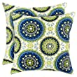 Greendale Home Fashions 17 x 17 in. Outdoor Accent Pillows - Set of 2