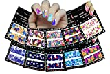 Nail Art Water Slide Tattoo Decals Full Cover Flowers Daises, Lilies, Tulips, Etc., 10 Pack /Cviii/