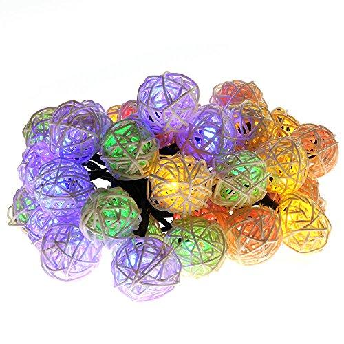 Rattan Globe Lights
