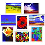 8 Blank Scenic & Floral Pack of Birthday Greeting Cards