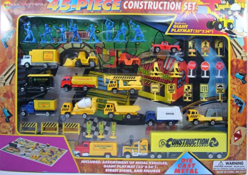 Construction-Diecast-Vehicles-Playset-with-Street-Signs-Figures-Playmat-Set-of-45