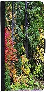 Snoogg Autumn Forest Background Designer Protective Phone Flip Case Cover For Lenovo Vibe X3