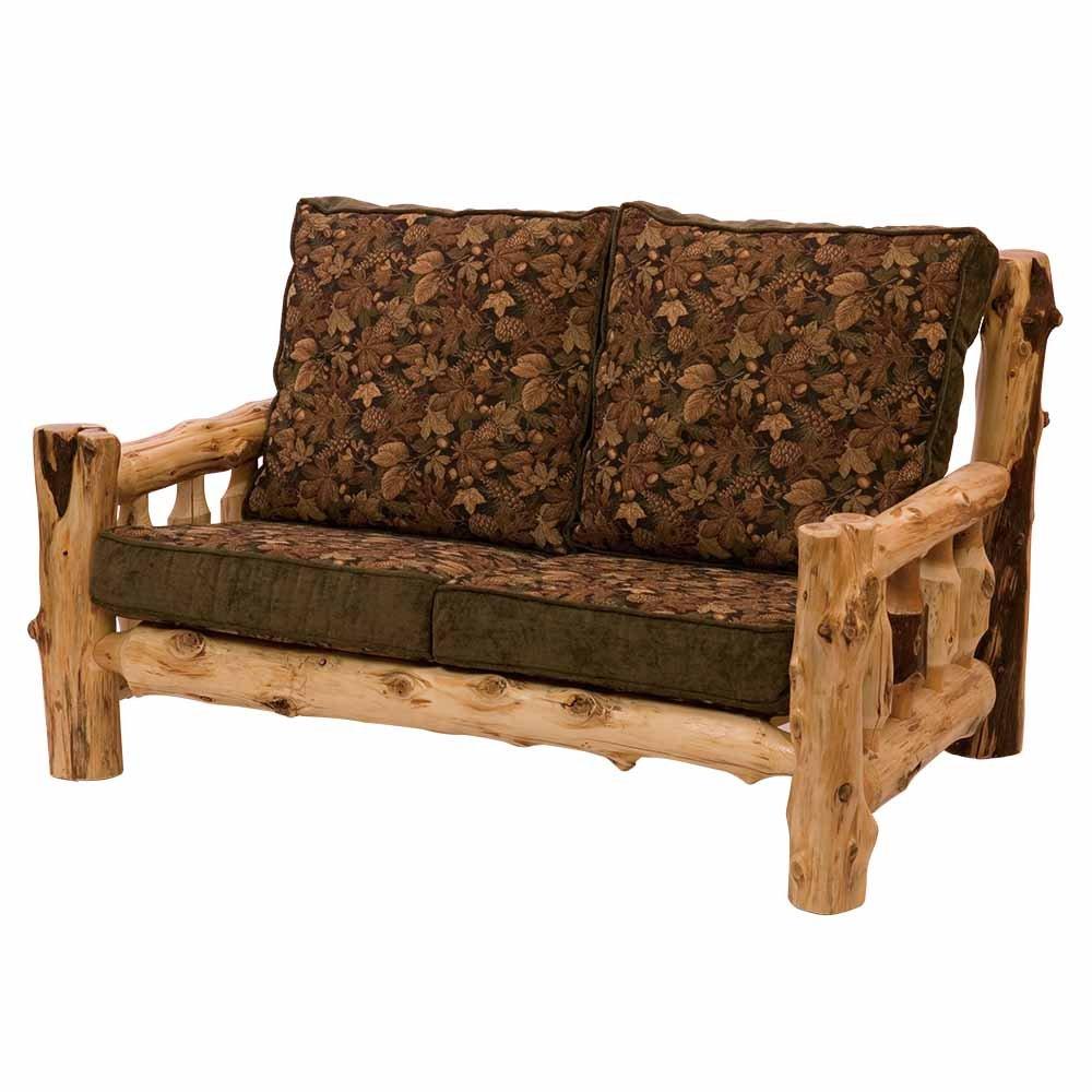 Cedar Log Frame Loveseat Real High Quality Wood Western Lodge Rustic Cabin