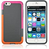 "iPhone 6 Case ,Multi-Colored TPU, (4.7""), AT&T Verizon Sprint T-Mobile and All Carriers, Retail Packaging, Dark Gray"