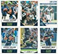 Seattle Seahawks 6 Card Gift Lot Including 4 Different Russell Wilson and 2 Different Marshawn Lynch Cards with 2015 Score Cards and Others