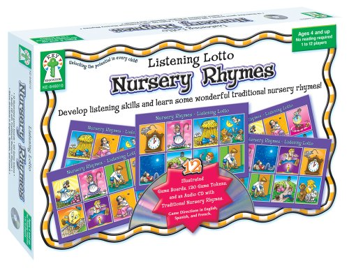 Listening Lotto: Nursery Rhymes Educational Board Game