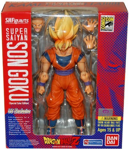Dragonball Z Kai S.H.Figuarts SDCC 2011 5 Inch Deluxe Articulated Action Figure Super Saiyan Son Goku