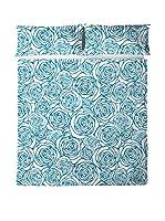 PADUANA Juego De Sábanas Modern Rose (Azul)