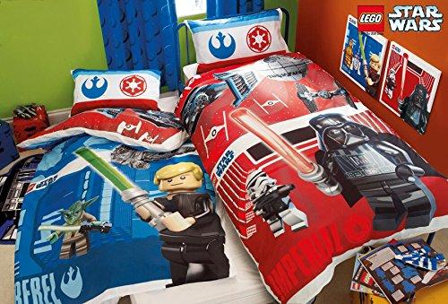 LEGO Star Wars Battaglia Set Letto Copripiumino Singolo in policotone reversibile TV