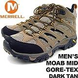 メレル メンズ モアブミッドゴアテックス ダークタン MERRELL MEN'S MOAB MID GORE-TEX DARK TAN J87311 男性用 トレッキングシューズ 登山用