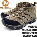 DARK TAN US7.5(25.5cm) メレル メンズ モアブミッドゴアテックス ダークタン MERRELL MEN\'S MOAB MID GORE-TEX DARK TAN J87311 男性用 トレッキングシューズ 登山用