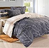 Luk Oil Home Textile,British Style Gentle Cotton Bedding Set Concise Lines Duvet Covers Fashion Brief Male Elegant Fillet Bed Sheets Queen Size, 4Pcs