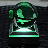 S-SO 3D Pokeball Charmander Crystal Night LED 7-color Bedroom Desk light