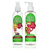 Fresh Monster Kids 2-in-1 Shampoo & Conditioner Plus Detangler Bundle, Watermelon, 2 Count